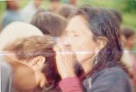 Opyguá en una ceremonia religiosa. Aldea Perutí. Misiones, Argentina