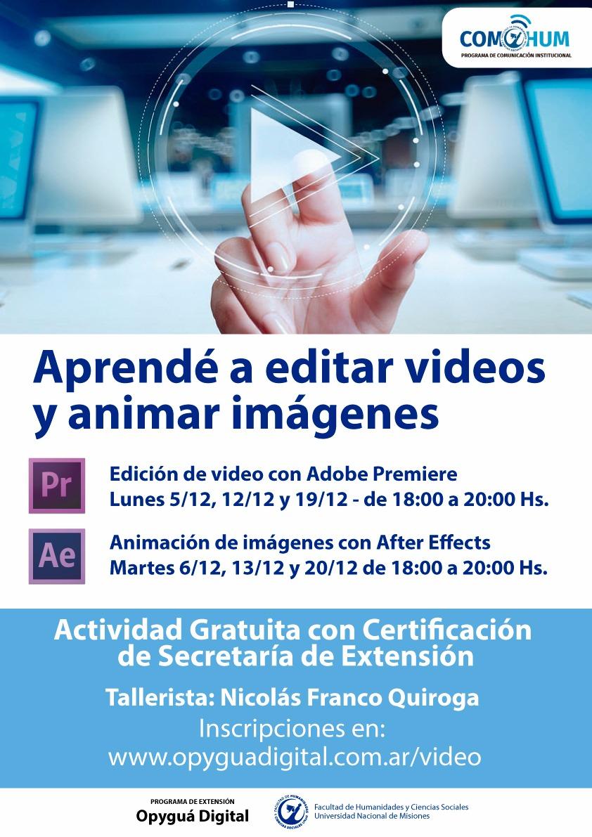 Cursos gratuitos de edición de video y animación de imágenes